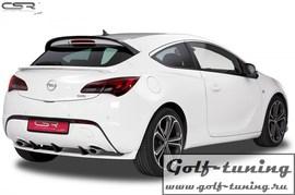 Opel Astra J GTC 12-15 Накладка на задний бампер