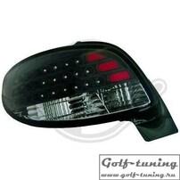 Peugeot 206 CC 98-06 Фонари светодиодные, черные