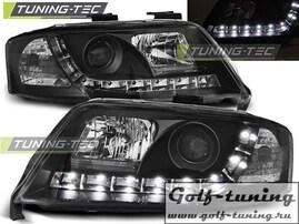 Audi A6 97-01 Фары Devil eyes, Dayline черные