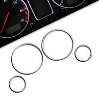 BMW E39 Комплект хромированных колец в приборную панель