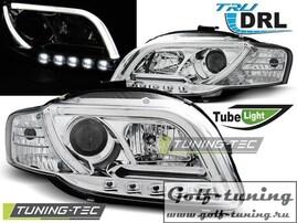 Audi A4 B7 04-08 Фары Tube Lights хром