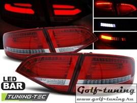 Audi A4 B8 07-11 Универсал Фонари светодиодные, красно-белые Lightbar