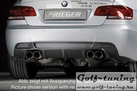 BMW E92/E93 06-13 335I/335D Накладка на задний бампер Carbon Look