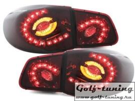 VW Tiguan 07-11 Фонари светодиодные, красно- тонированные с светодиодным поворотником