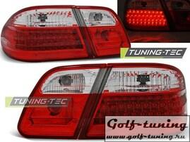 Mercedes W210 95-02 Седан Фонари светодиодные,  красно- беллые