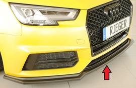 Audi A4/S4 15-18 S Line Сплиттер для переднего бампера