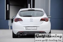 Opel Astra J 09- Накладка на задний бампер Carbon Look