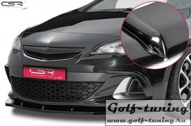Opel Astra J OPC / GTC 09- Накладка на передний бампер Cupspoilerlippe carbon look