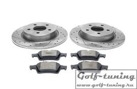 Ford/Volvo Комплект спортивных тормозных дисков и колодок