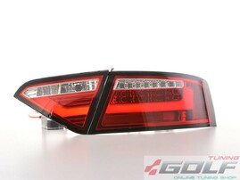 Audi A5 07-11 Купе/спортбэк Фонари lightbar design красно-белые