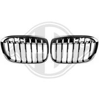 BMW X1 F48 16- Решетки радиатора (ноздри) глянцевые