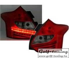 Ford Focus 3 11-14 Фонари светодиодные, красно-тонированные