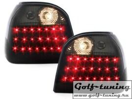VW Golf 3 Фонари светодиодные, черно-тонированные