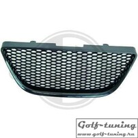Seat Ibiza 6J 08-12 Решетка радиатора без значка с сеткой черная
