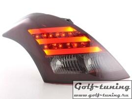 Suzuki Swift 11- Фонари светодиодные, красно-тонированные