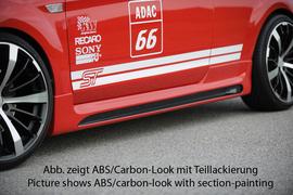 Ford Focus 2 04-11 3Дв Накладки на пороги Carbon Look