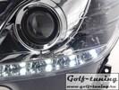 Mercedes W204 07-11 Фары Devil eyes, Dayline хром