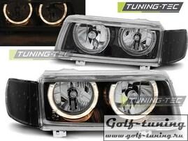 VW Passat B4 93-97 Фары Angel eyes черные
