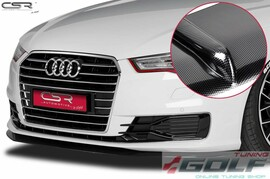 Audi A6 C7 14- Накладка на передний бампер carbon look