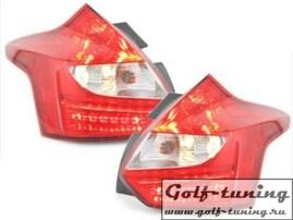 Ford Focus 3 11-14 Фонари светодиодные, красно-белые RF15DLRC