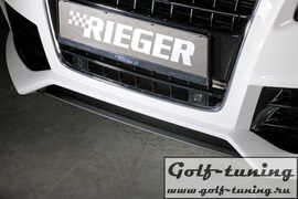 Накладка нижняя для переднего бампера Rieger 00055430, 00055431, 00055432, 00055433 Carbon Look