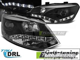VW Polo Sedan 09-15/15- Фары Devil eyes, Dayline черные