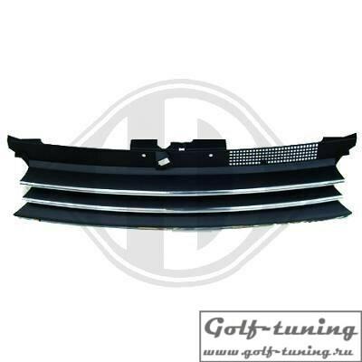 VW Golf 4 Решетка радиатора без значка с хром полосками