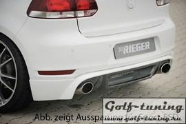 VW Golf 6 GTI Накладка на задний бампер carbon look