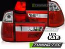 BMW X5 98-03 Фонари led bar design красно-белые
