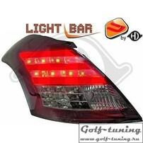 Suzuki Swift 10-17 Фонари светодиодные, красно-тонированные
