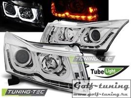 Chevrolet Cruze 09-12 Фары TUBE LIGHT хром