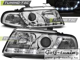 Audi A4 94-98 Фары DAYLIGHT, Dayline хром