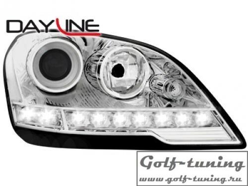 Mercedes W164 08-11 Фары Devil eyes, Dayline хром
