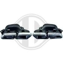 Mercedes W222 13- Насадки на глушитель в стиле AMG