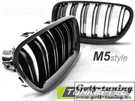 BMW F10/F11 10-13 Решетки радиатора (ноздри) M5 Look глянец