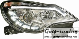 Opel Corsa D 11-14 Фары Light tube design хром