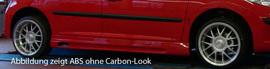 Peugeot 207 Накладки на пороги carbon look