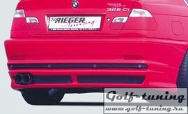 BMW E46 Купе 98-01 Накладка на задний бампер