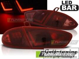 Seat Leon 09-13 Фонари Led bar design красно-тонированные