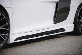 Audi R8 07- Накладки на пороги Carbon Look