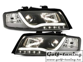 Audi A4 8E 00-04 Фары Devil eyes, Dayline черные D-LITE EVO