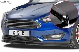 Ford Focus 3 14- Накладка на передний бампер глянцевая