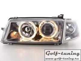 Opel Vectra A 88-95 Фары с ангельскими глазками и линзами хром