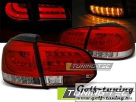 VW Golf 6 08-12 Фонари светодиодные, красно-белые