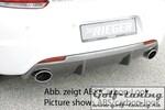 VW Scirocco 08-17 R-Line Диффузор для заднего бампера черный