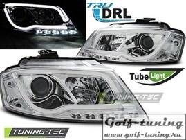 Audi A3 8P 08-12 Фары TUBE LIGHT хром