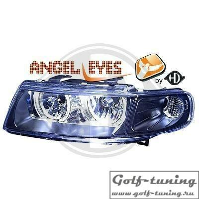 Seat Toledo 99-05 Фары с ангельскими глазками черные