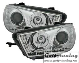 VW Scirocco 08-14 Фары Devil eyes, Dayline хром