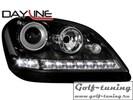 Mercedes W164 05-08 Фары Devil eyes, Dayline черные