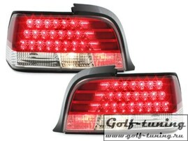 BMW E36 2Дв Фонари светодиодные, красно-белые